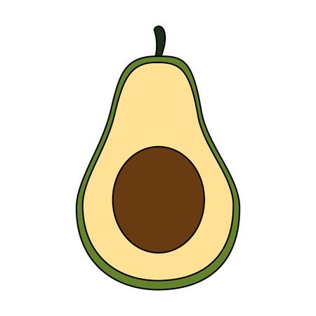 fresh avocados vegetarian food vector illustration design Illustration