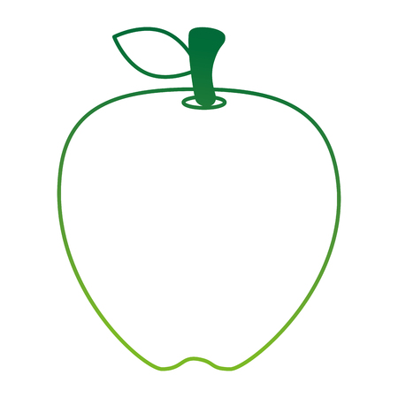 fresh apple fruit icon vector illustration design