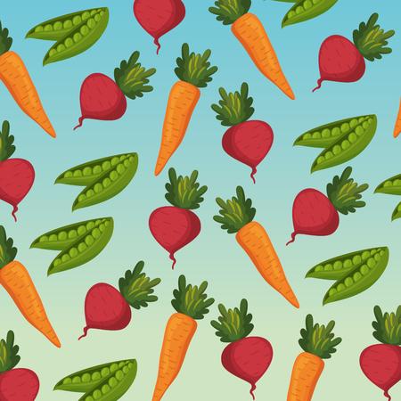 group of vegetables pattern background vector illustration design