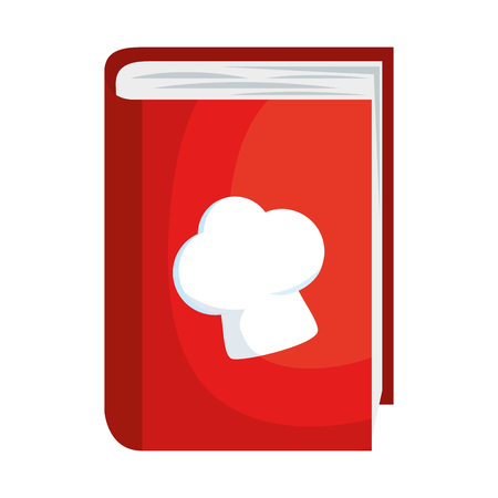 book recipes with chef hat vector illustration design
