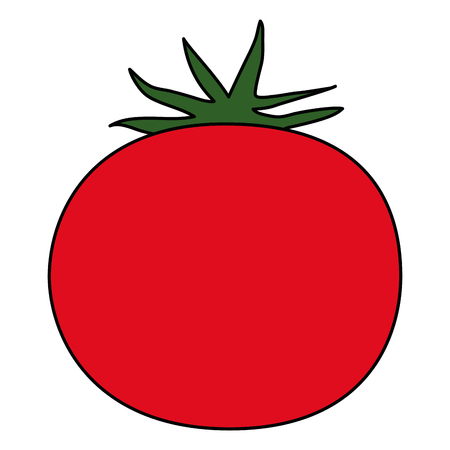 fresh tomato vegetarian food vector illustration design  イラスト・ベクター素材