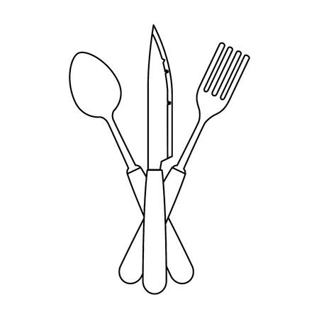 set cutlery tools icon vector illustration design  イラスト・ベクター素材
