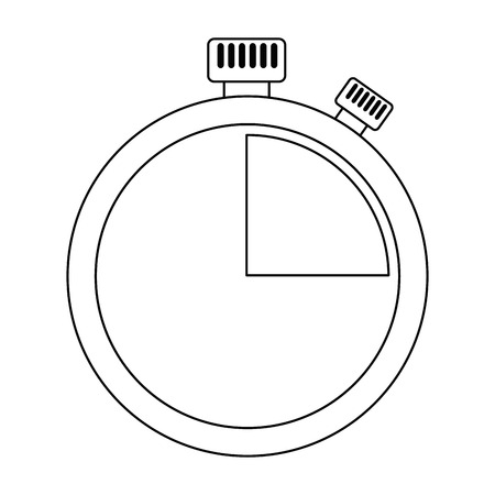 chronometer time clock isolated icon vector illustration design Stok Fotoğraf - 101925476