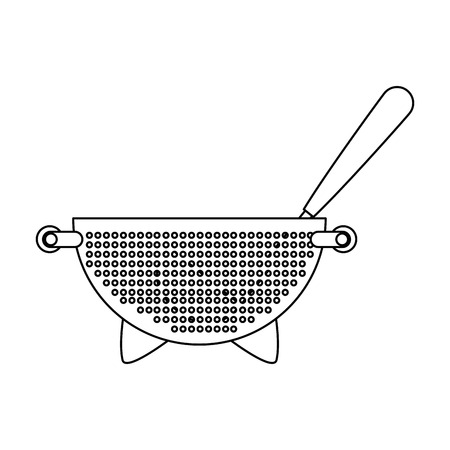 kitchen colander and ladle vector illustration design Archivio Fotografico - 101925515