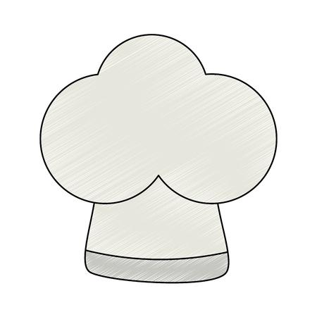 chef hat uniform icon vector illustration design Illustration