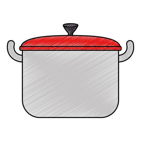 kitchen pot isolated icon vector illustration design Ilustracja