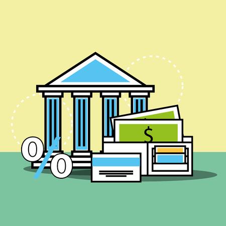 bank money percent analytics and investment vector illustration Illustration