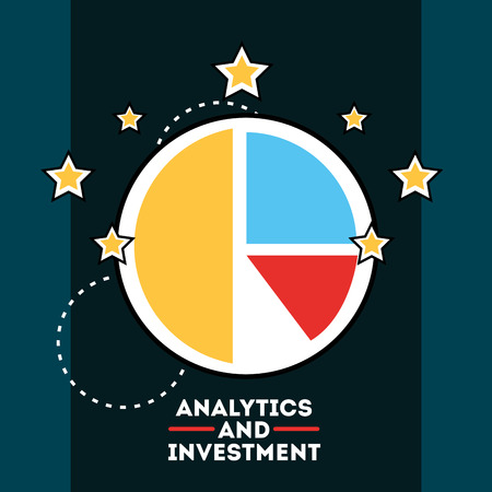 statistics pie chart financial analytics and investment vector illustration