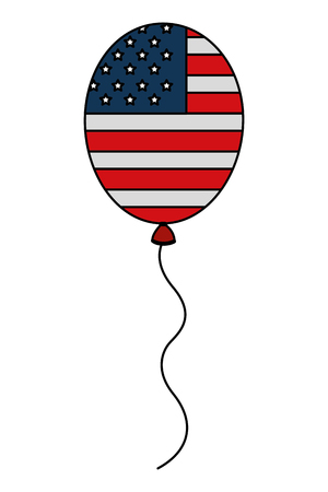 balloons air helium with USA flag vector illustration design