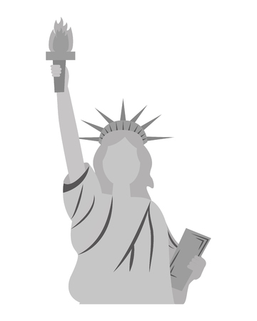 liberty statue american icon vector illustration design Stock Vector - 101977139