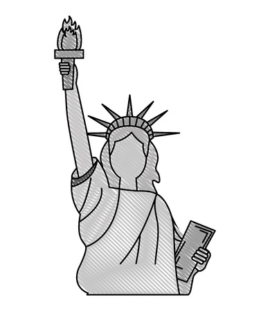 statue of liberty monument national symbol vector illustration