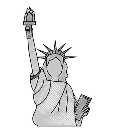 statue of liberty monument national symbol vector illustration Stok Fotoğraf - 101977263