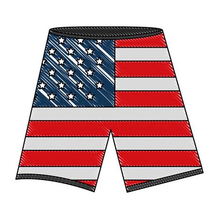 shorts with the american flag vector illustration Illusztráció