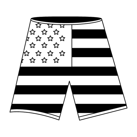 shorts with the american flag vector illustration Illustration