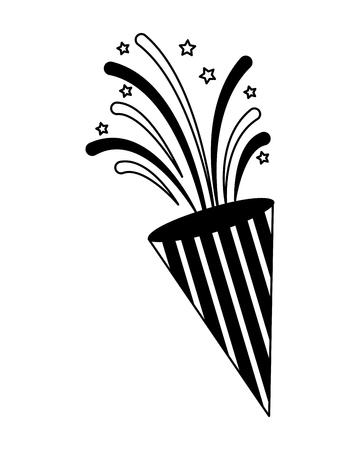 fireworks explosion celebration party image vector illustration