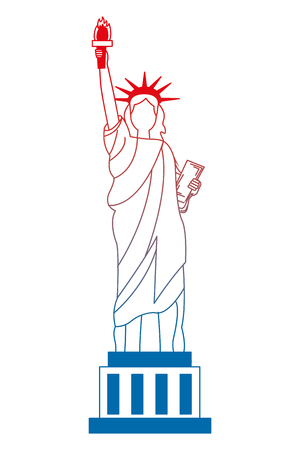 liberty statue american icon vector illustration design 向量圖像