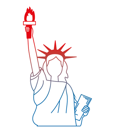 liberty statue american icon vector illustration design Illustration