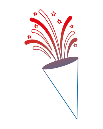 Trompeta con fuegos artificiales de ilustración vectorial de diseño Foto de archivo - 102026628
