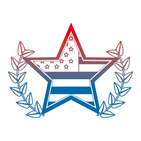 star with wreath USA emblem vector illustration design Ilustrace