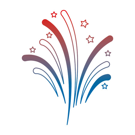 USA fireworks splash celebration vector illustration design