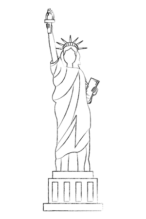 liberty statue american icon vector illustration design Stock Vector - 102020938