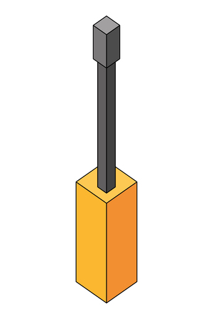 screwdriver tool isometric icon vector illustration design Illustration