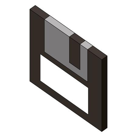 floppy disk isometric icon vector illustration design Иллюстрация