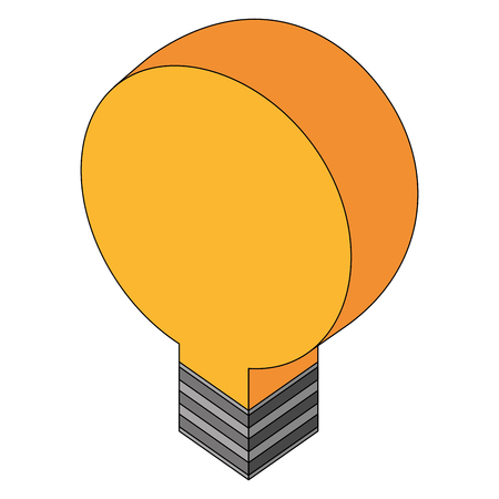 bulb light idea isometric icon vector illustration design