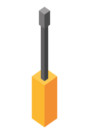 screwdriver tool isometric icon vector illustration design Çizim