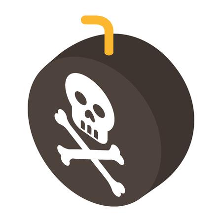 bomb with skull alert vector illustration design Ilustração