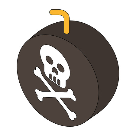 bomb with skull alert vector illustration design Stock Photo