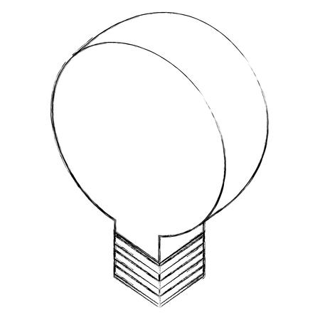 bulb light idea creativity innovation isometric vector illustration sketch