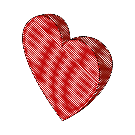 heart love isometric icon vector illustration design