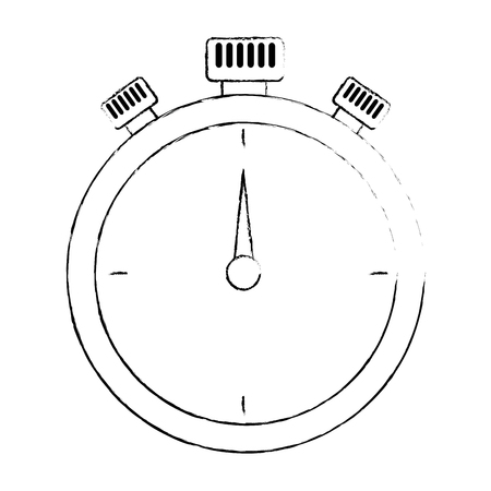 chronometer time clock isolated icon vector illustration design Stok Fotoğraf - 102109455