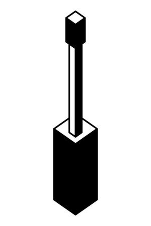 screwdriver tool isometric icon vector illustration design Illustration
