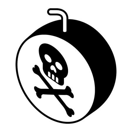 bomb with skull alert vector illustration design Ilustrace