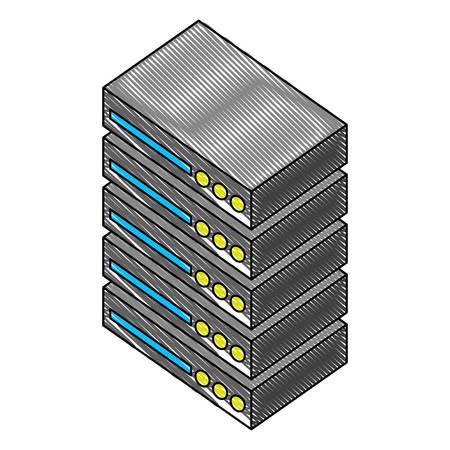 server data center isometric icon vector illustration design Stock Vector - 102109533