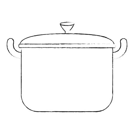 kitchen pot isolated icon vector illustration design  イラスト・ベクター素材