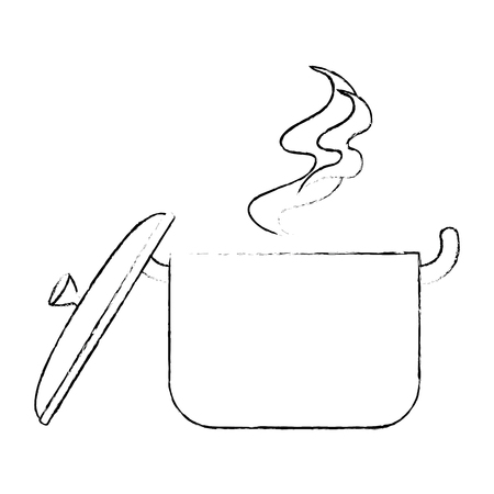 kitchen pot hot icon vector illustration design