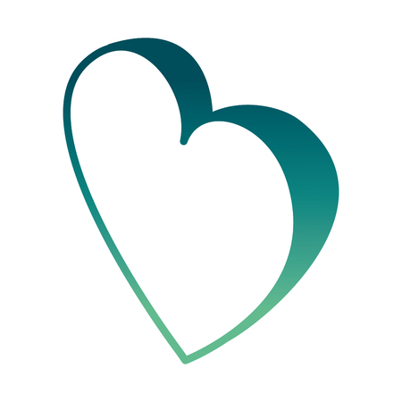 heart in love passion isometric image vector illustration Illustration