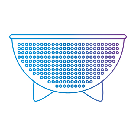 kitchen colander metal icon vector illustration design Archivio Fotografico - 102109692