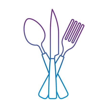 set cutlery tools icon vector illustration design Illustration