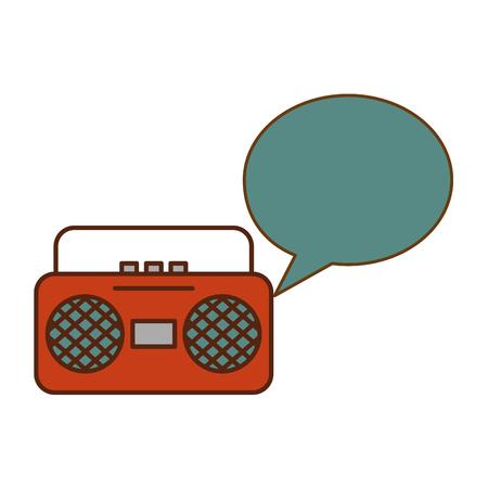 radio music retro style vector illustration design Imagens - 102028377