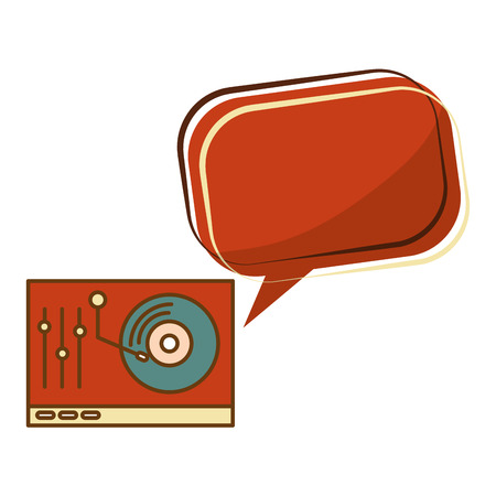 lp player music retro style vector illustration design