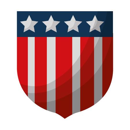 united stated of america shield vector illustration design Çizim
