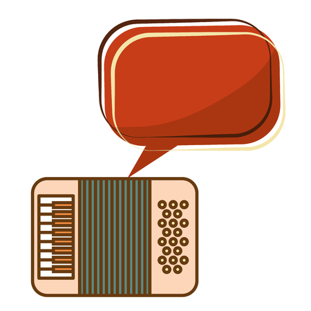 accordion music retro style vector illustration design