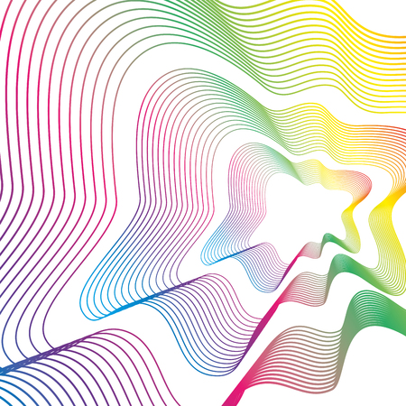 lines and colors workart background vector illustration design