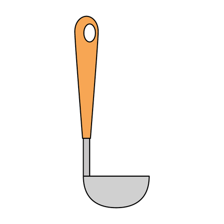 kitchen ladle isolated icon vector illustration design