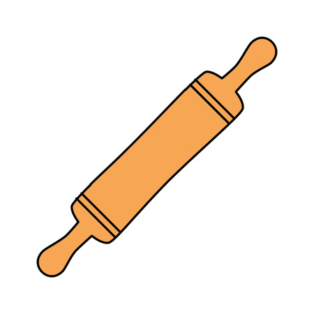 Rodillo de panadería aislado icono de ilustración vectorial de diseño Foto de archivo - 102029291