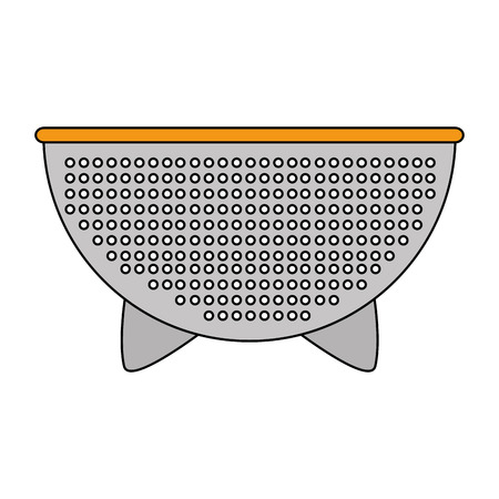 kitchen colander metal icon vector illustration design